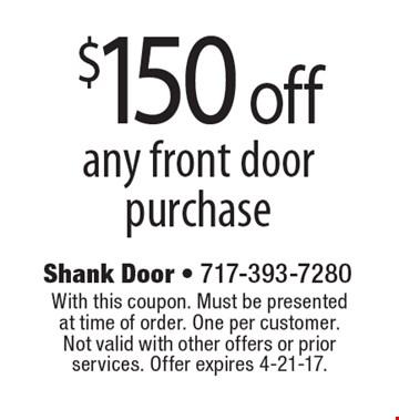 Shank door coupons