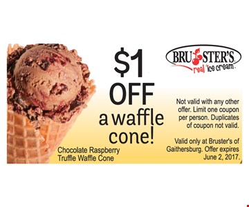 $1 Off a waffle cone!