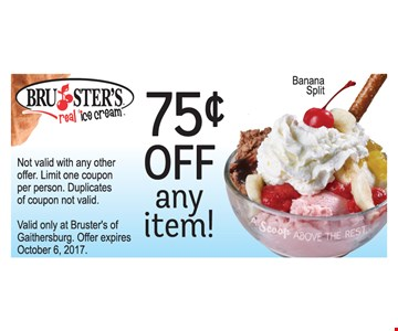 75 cents off any item