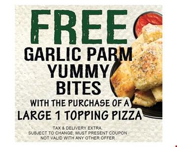 Free garlic parm yummy bites