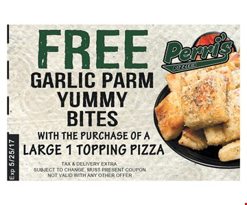 Free yummy bites with purchase.