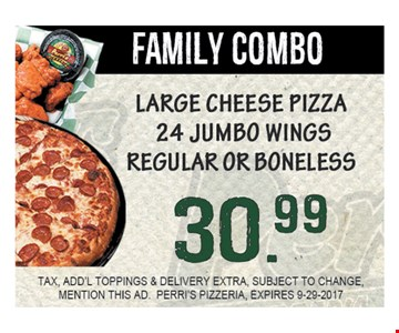 Family Combo for $30.99