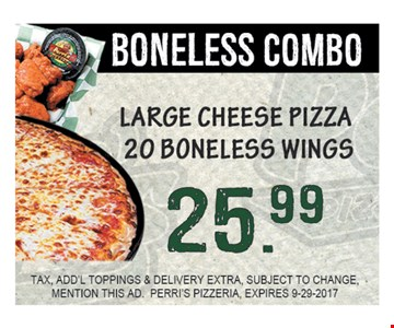 Boneless combo $25.99