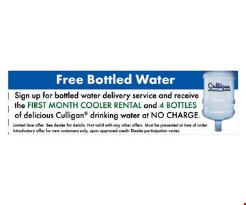 Free Bottled Water