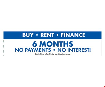 6 months no payments or interest