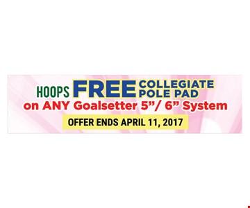 Free collegiate pole pad