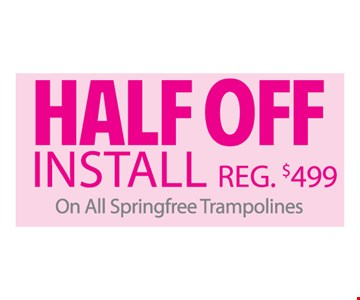 half off install