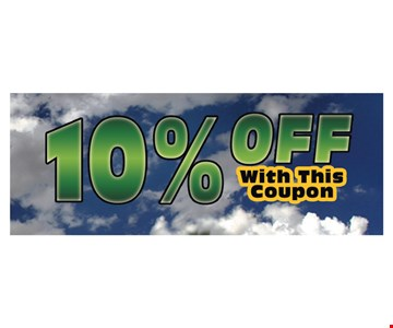 10% off any purchase. With this coupon.