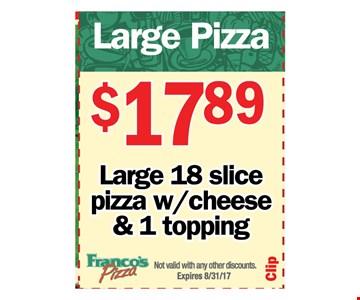 Large Pizza  - $17.89