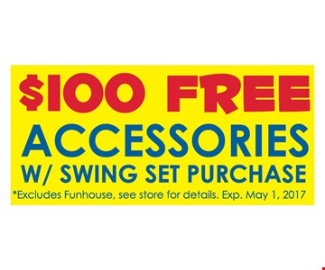 $100 worth of free Accessories