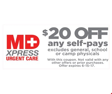 $20 Off Any Self Pays