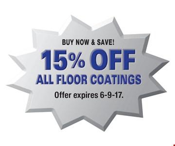 15% off all floor coatings