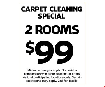 $99 2 room carpet cleaning