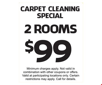 carpet cleaning specials 2 rooms $99