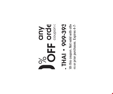 10% off any online order coupon code: 022317. With this coupon. Not valid with other offers or prior purchases. Expires 4-7-17.