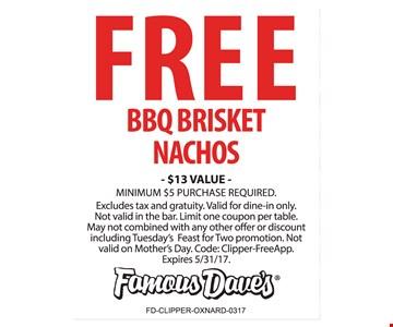 Free BBQ Brisket Nachos