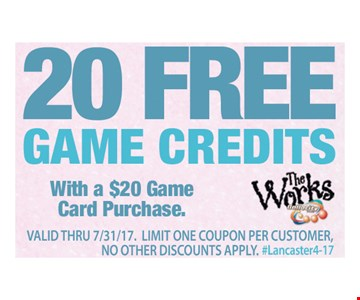 20 Free Game Credits