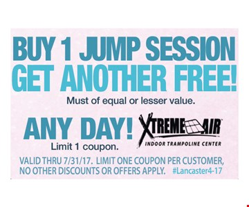 Buy 1 Jump Session Get Another Free
