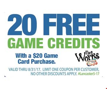 20 Free Games Credtis