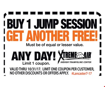 Buy 1 Jump Session, Get Another Free!