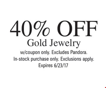 40% Off Gold Jewelry