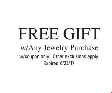Free Gift w/any Jewelry Purchase