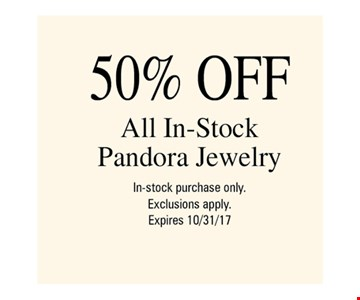 50%v OFF All in-stock Pandora jewelry