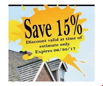 Save 15%.
