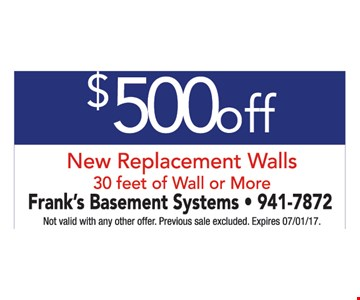 $500 Off New Replacement Walls