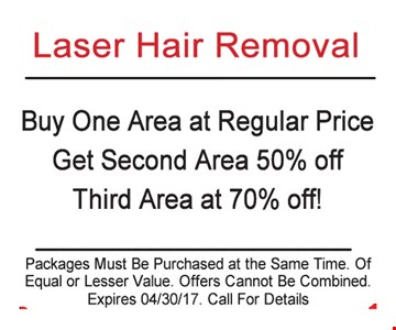 Buy One Area At Regular Price Get 2nd Area 50% Off 3rd Area at 70% Off