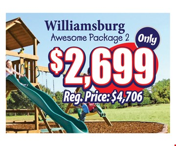 $2699 Williamsburg awesome package 2