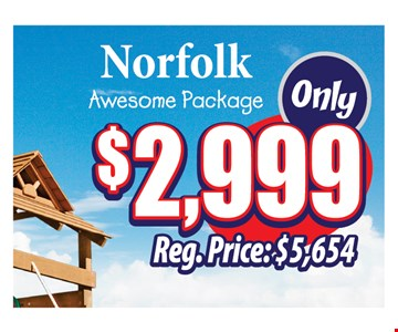 $2999 Norfolk awesome package