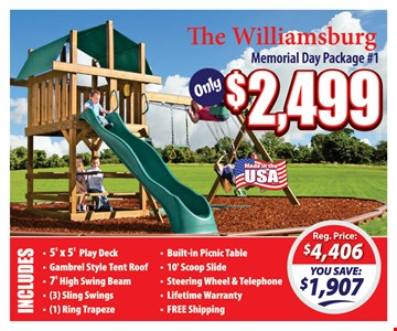 Memorial Day Package #1 $2,499
