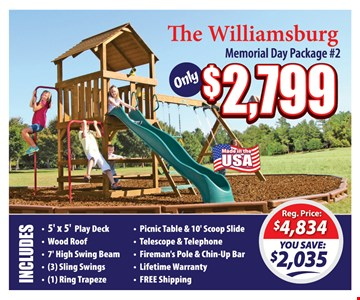 Memorial Day Package #2 $2,799