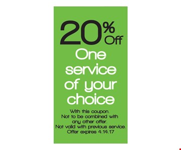 20% off one service.