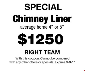 SPECIAL $1250 Chimney Liner average home 4