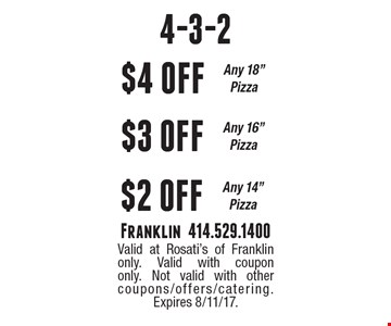 4-3-2. $4 off any 18