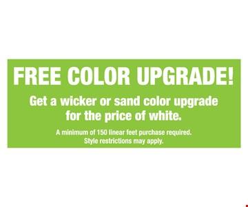 Free Color Upgrade