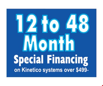Up to 48 months financing.