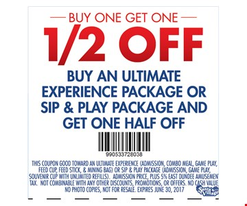 Buy One Get One 1/2 Off