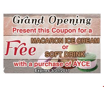 Free Macron Ice Cream Or Soft Drink