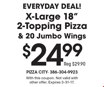 EVERYDAY DEAL! $24.99 X-Large 18