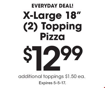 Everyday Deal! $12.99 X-Large 18