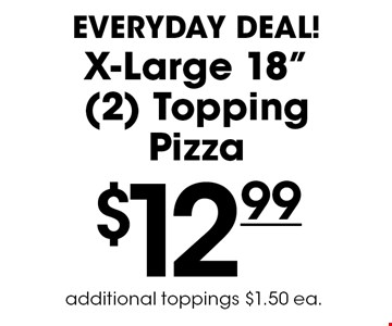 Everyday Deal! $12.99 for an X-Large 18