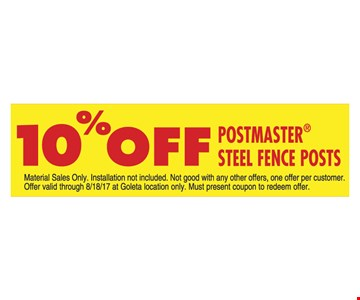 10% Off Postmaster Steel Fence Posts