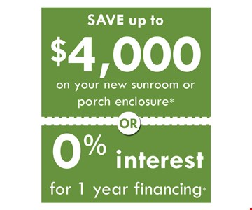 Save Up to $4,000 or 0% interest