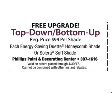 Free Upgrade Top-Down/Bottom-Up