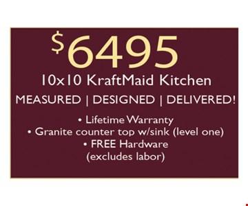 $6495 10 x 10 Kraft maid kitchen-Measured, Designed, Delivered