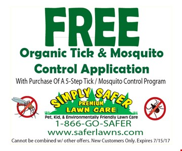 Free Organic Tick & Mosquito Control Application