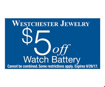 $5 off watch battery